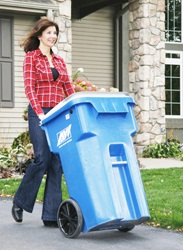 New recycling cart