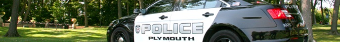 Plymouth Police Department squad car