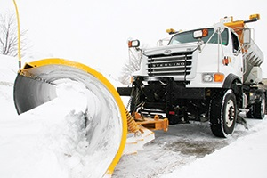 Snow plow in the City of Plymouth