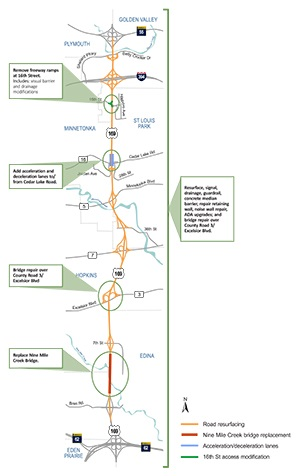 Hwy. 169 Project Map