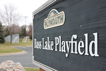 Bass Lake Playfield sign