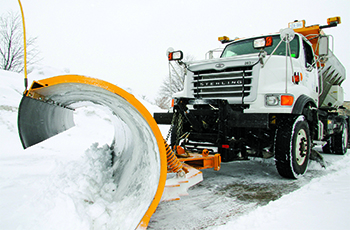Snow plow in Plymouth