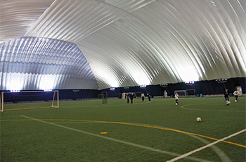 Plymouth Creek Center Fieldhouse with dome