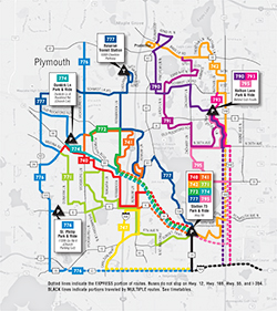 Plymouth Metrolink Systemwide Map PDF