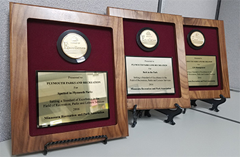 Plymouth Parks and Recreation earns three Awards of Excellence