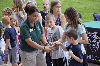 Naturalist visit in Plymouth featuring the Minnesota Zoomobile