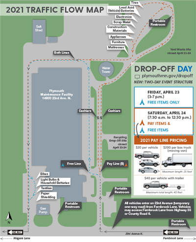 2019 Drop-Off Day traffic flow map