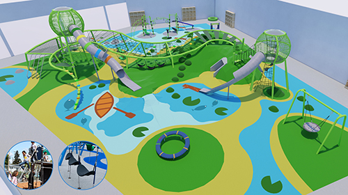 Plymouth Creek Center proposed renovation and expansion indoor playground design