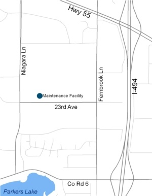 Maintenance Facility Map The Recycling Drop Off Center