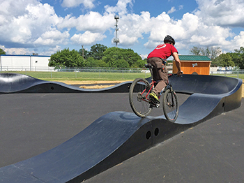 Pump Track at Plymouth Playfield