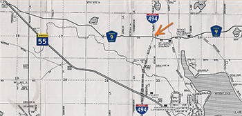 Map - Plymouth was undeveloped in 1965
