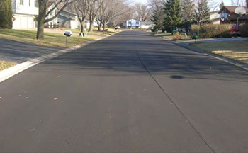 A smooth, freshly paved street