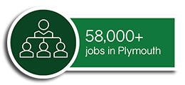 There are more than 58,000 jobs in Plymouth