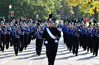 Armstrong High School marching band at Plymouth on Parade
