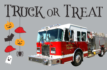Truck or Treat Halloween event at Plymouth fire stations