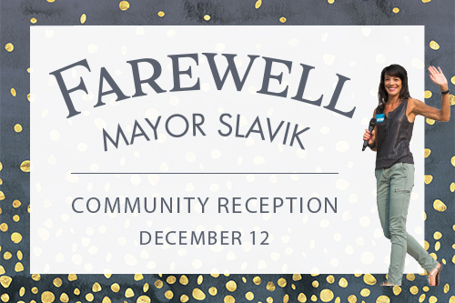 Farewell reception for Mayor Kelli Slavik set for Dec. 12