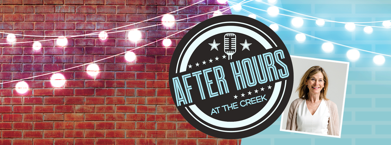 After Hours at the Creek graphic featuring a photo of stage hypnotist Sami Dare