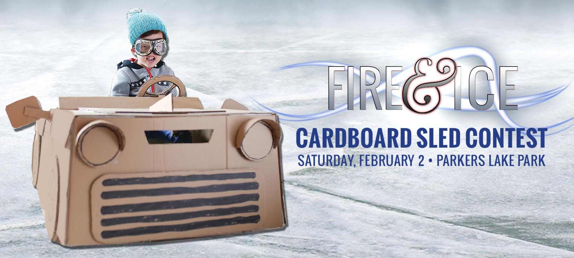 Plymouth Fire & Ice Cardboard Sled Contest graphic