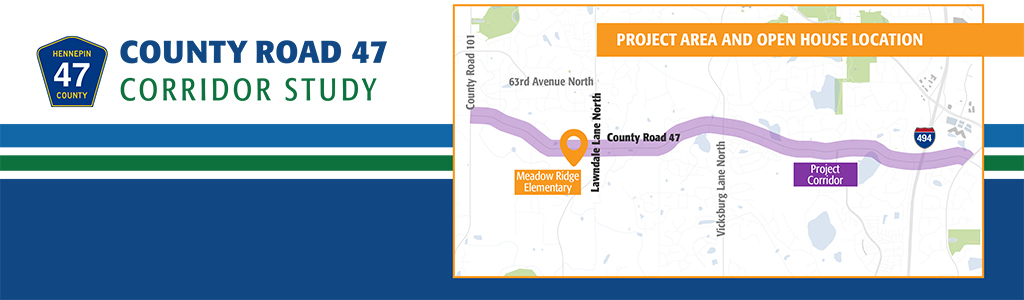 County Road 47 corridor study map