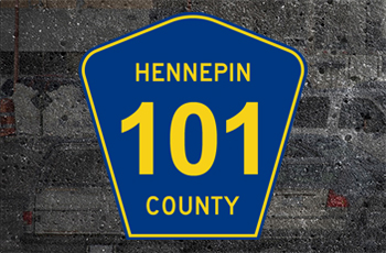 Hennepin County Road 101 Street Sign