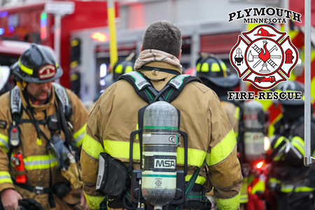 Plymouth Firefighters at a structure fire