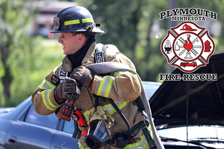 Plymouth Firefighter at a car fire