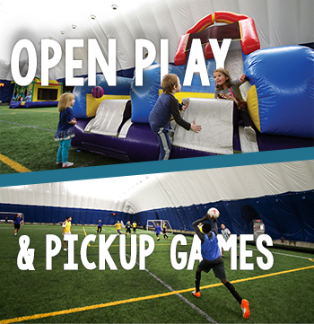 Special open play and open fieldhouse/pickup game availability