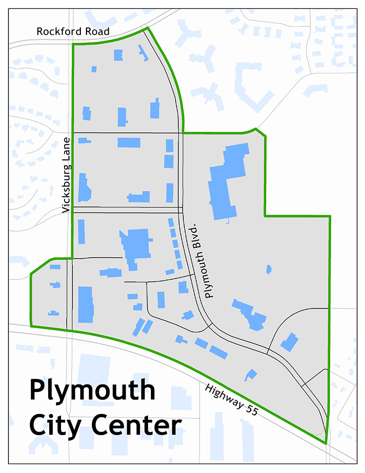 Map of the Plymouth City Center