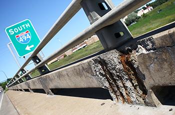 Deteriorating County Road 6 bridge