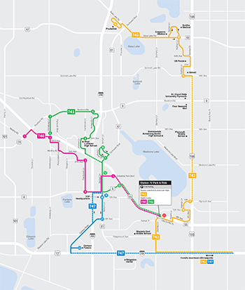 View the Plymouth Metrolink Reverse Route Map (PDF)