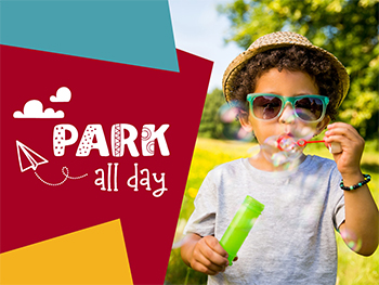 Park all Day - Kid blowing bubbles