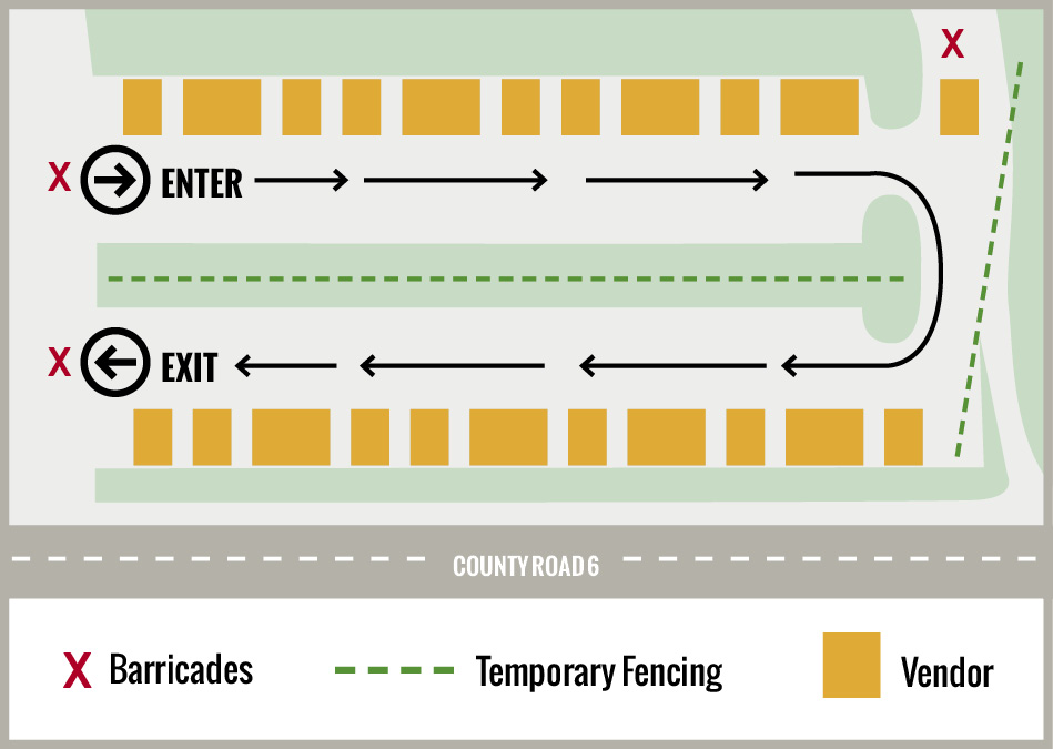 The Plymouth Farmers Market has a designated entrance and exit, and visitors should follow all directional signage.